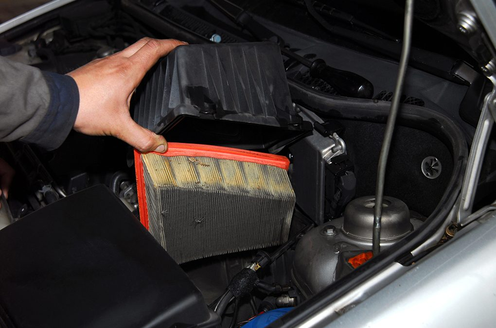 can a contaminated air filter cause a check engine light?