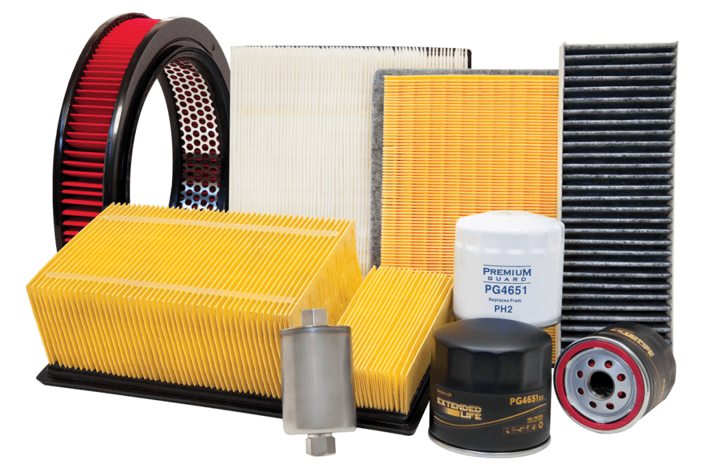 car oil filters and air filters